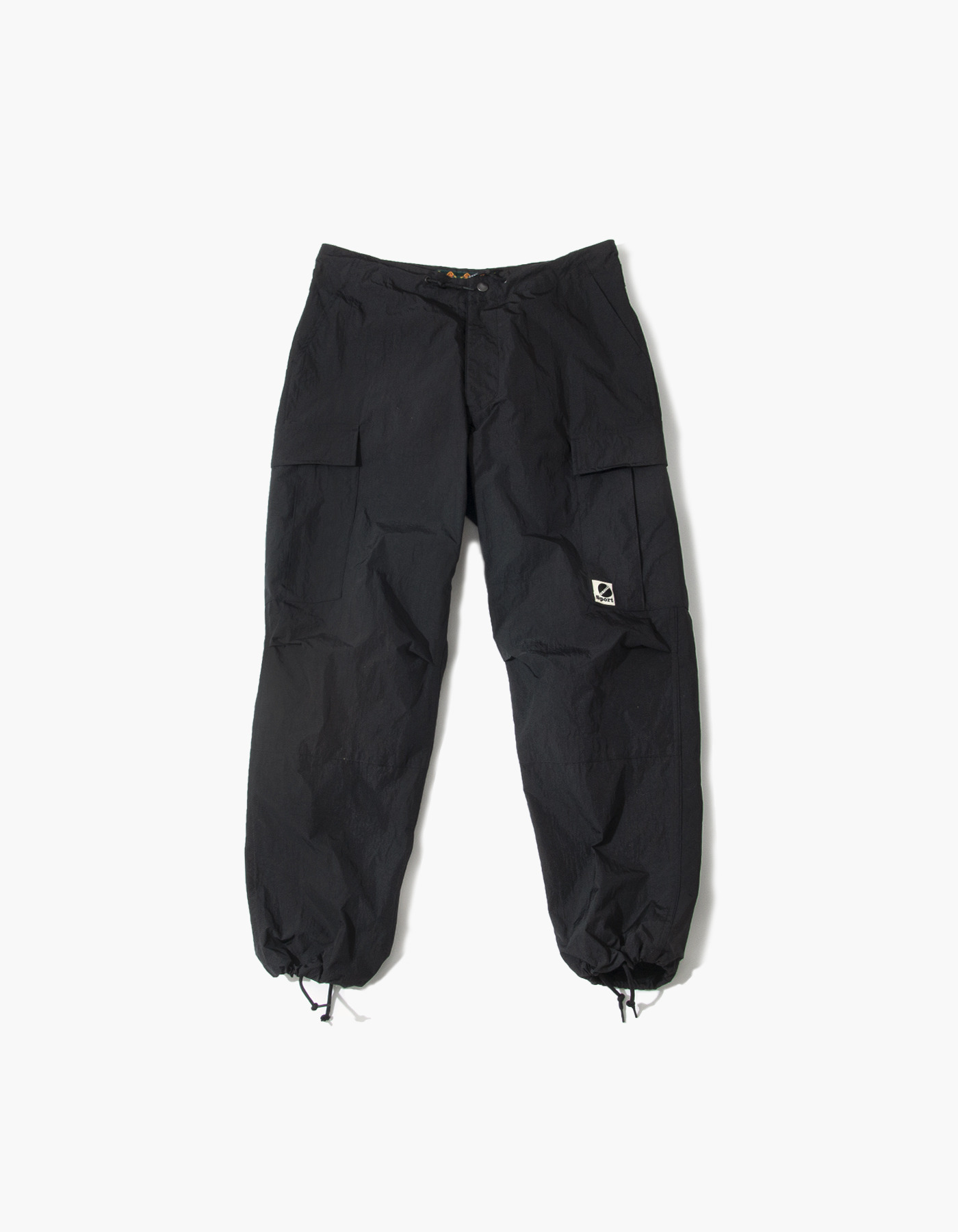 SALT NYLON CARGO PANTS / BLACK