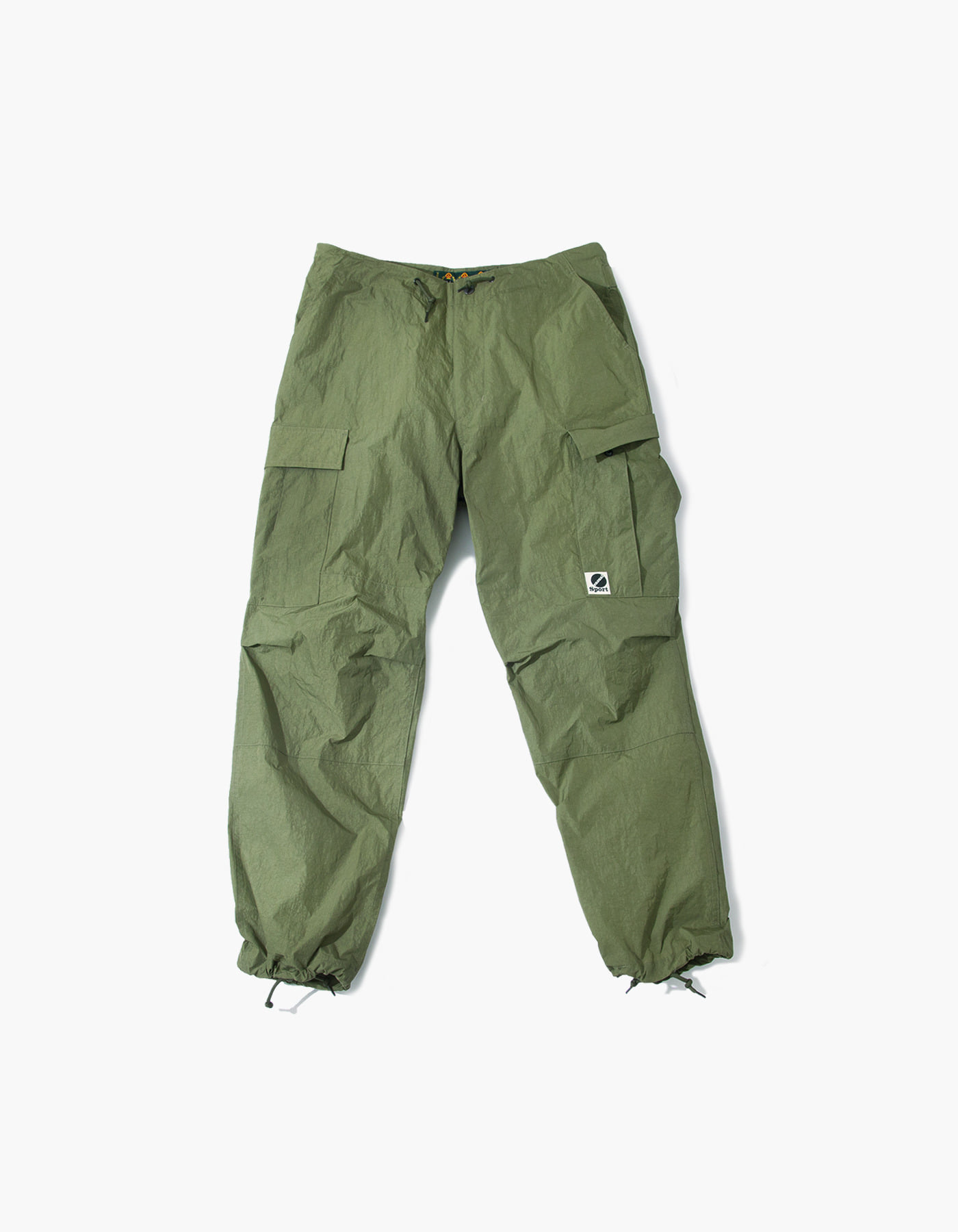 SALT NYLON CARGO PANTS / OLIVE