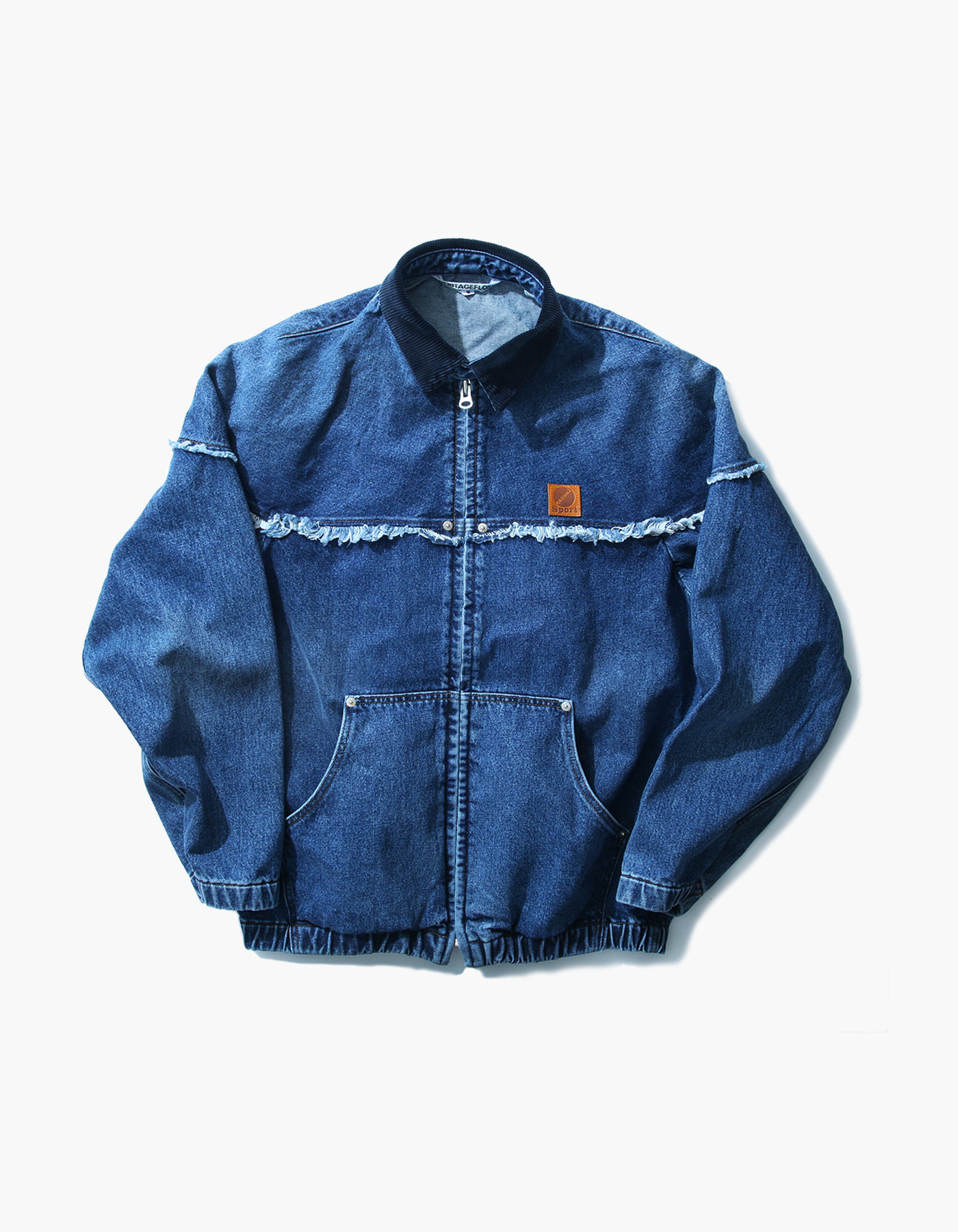 STONE WASHED WORK ZIP-UP / INDIGO