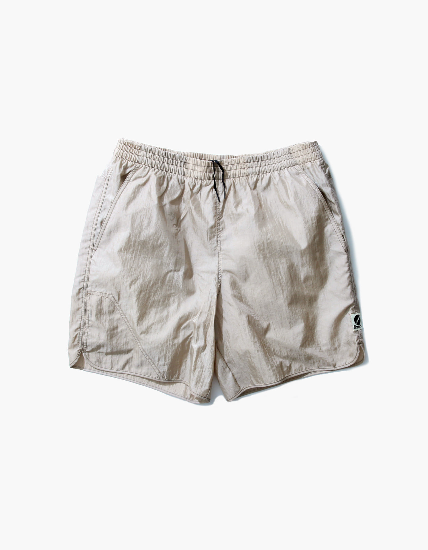 NYLON DIAMOND WASHER SHORTS II / BEIGE