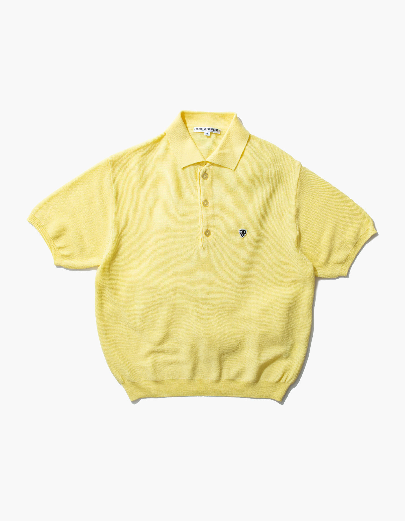 HFC CLOVER POLO SHIRTS / LIGHT YELLOW