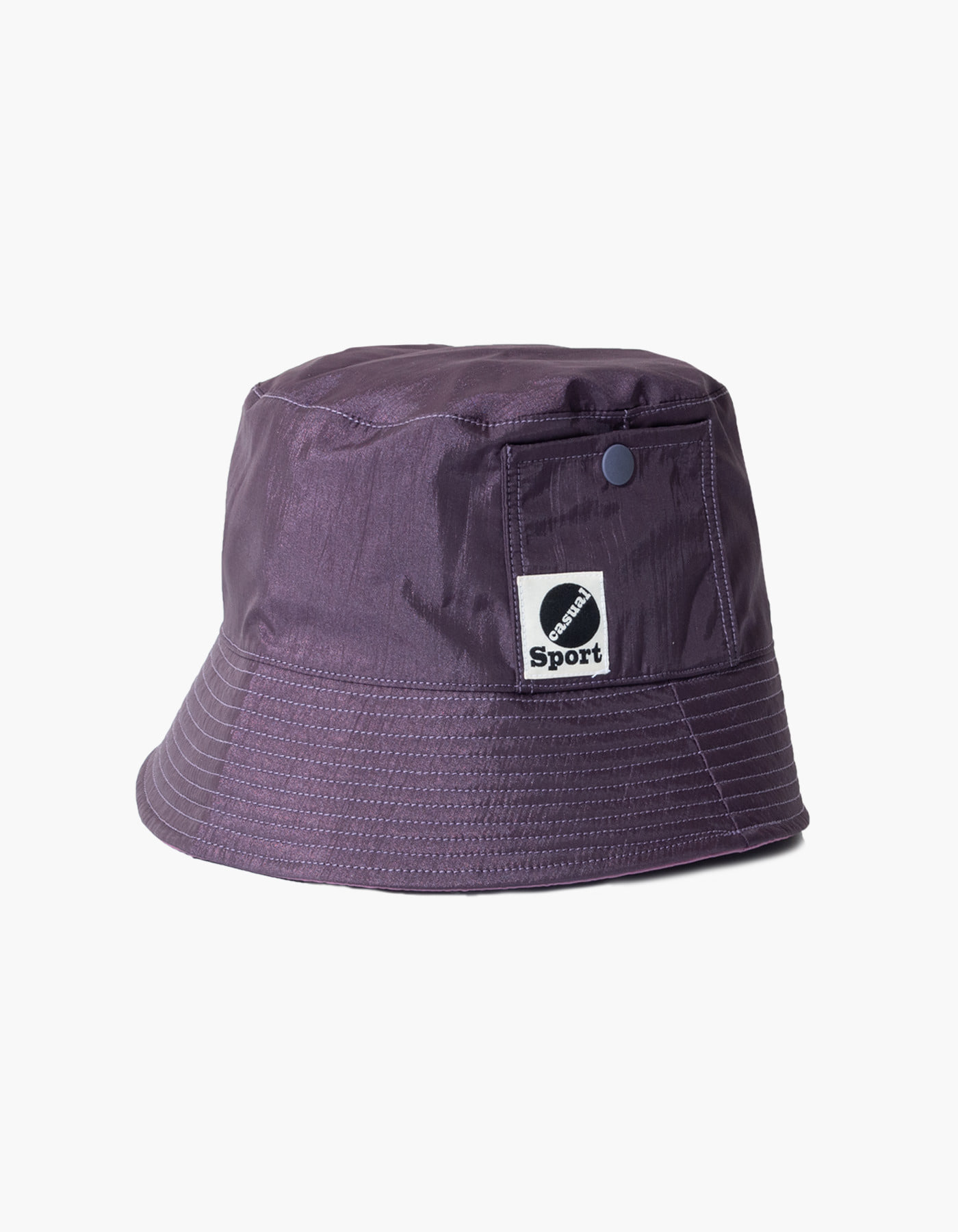 NYLON DIAMOND WASHER BUCKET HAT / PURPLE