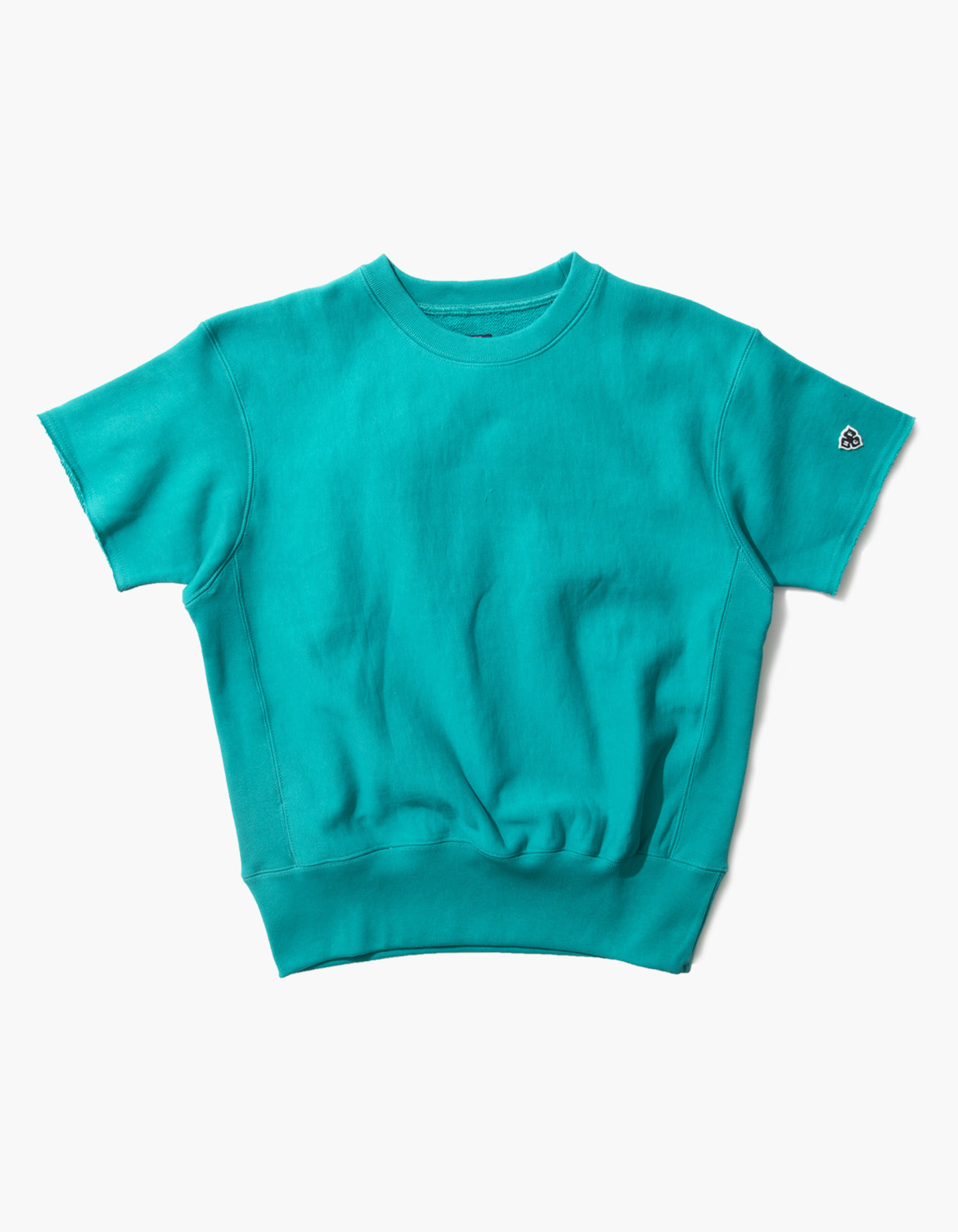 321 GYM CREWNECK HALF SLEEVE / BLUE GREEN