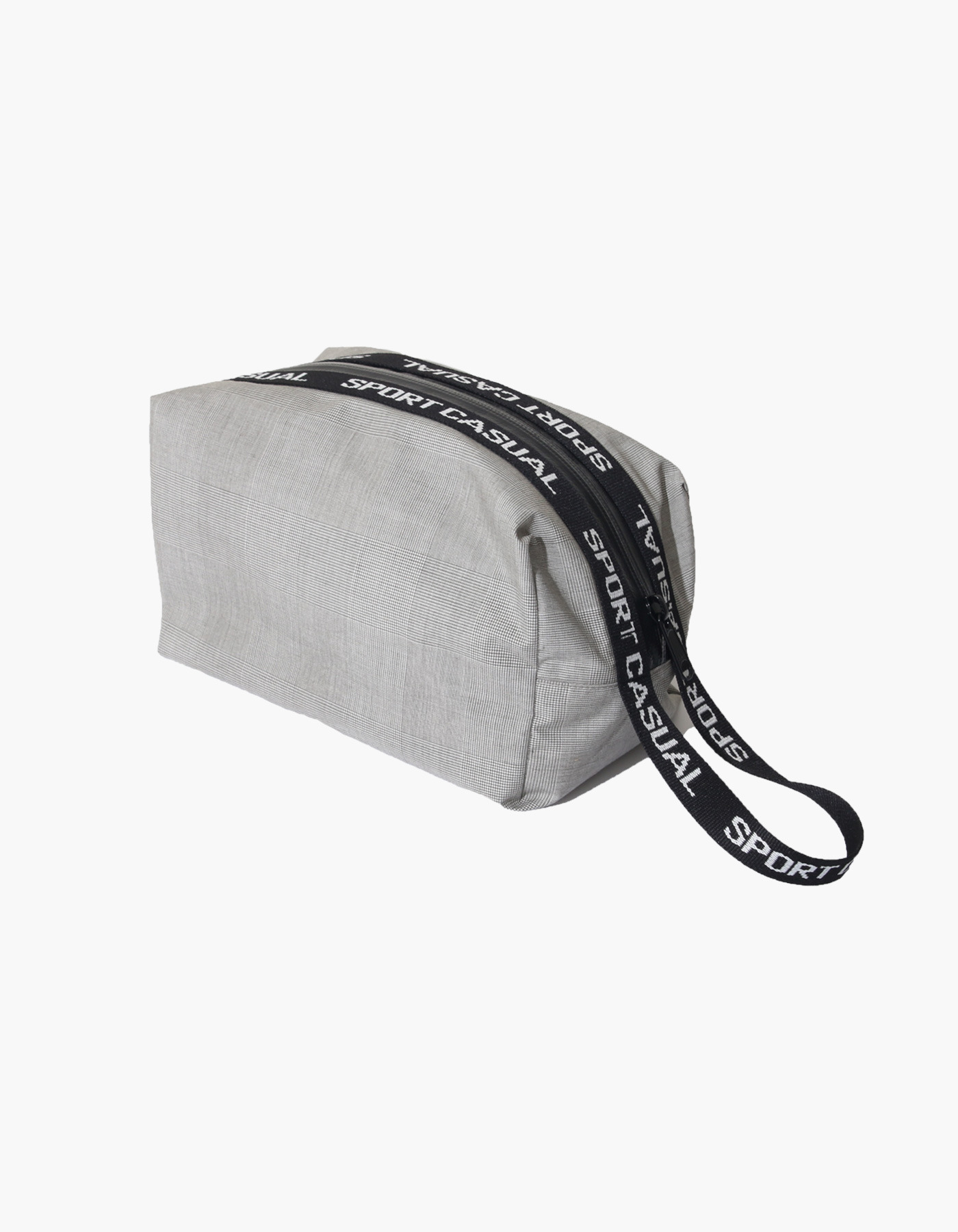 SPORTS POUCH / GLEN CHECK GREY