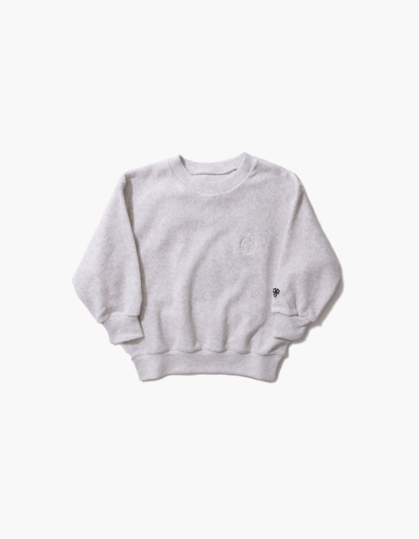 HFC CREST KIDS TOWEL CREWNECK / M.GREY(1%)