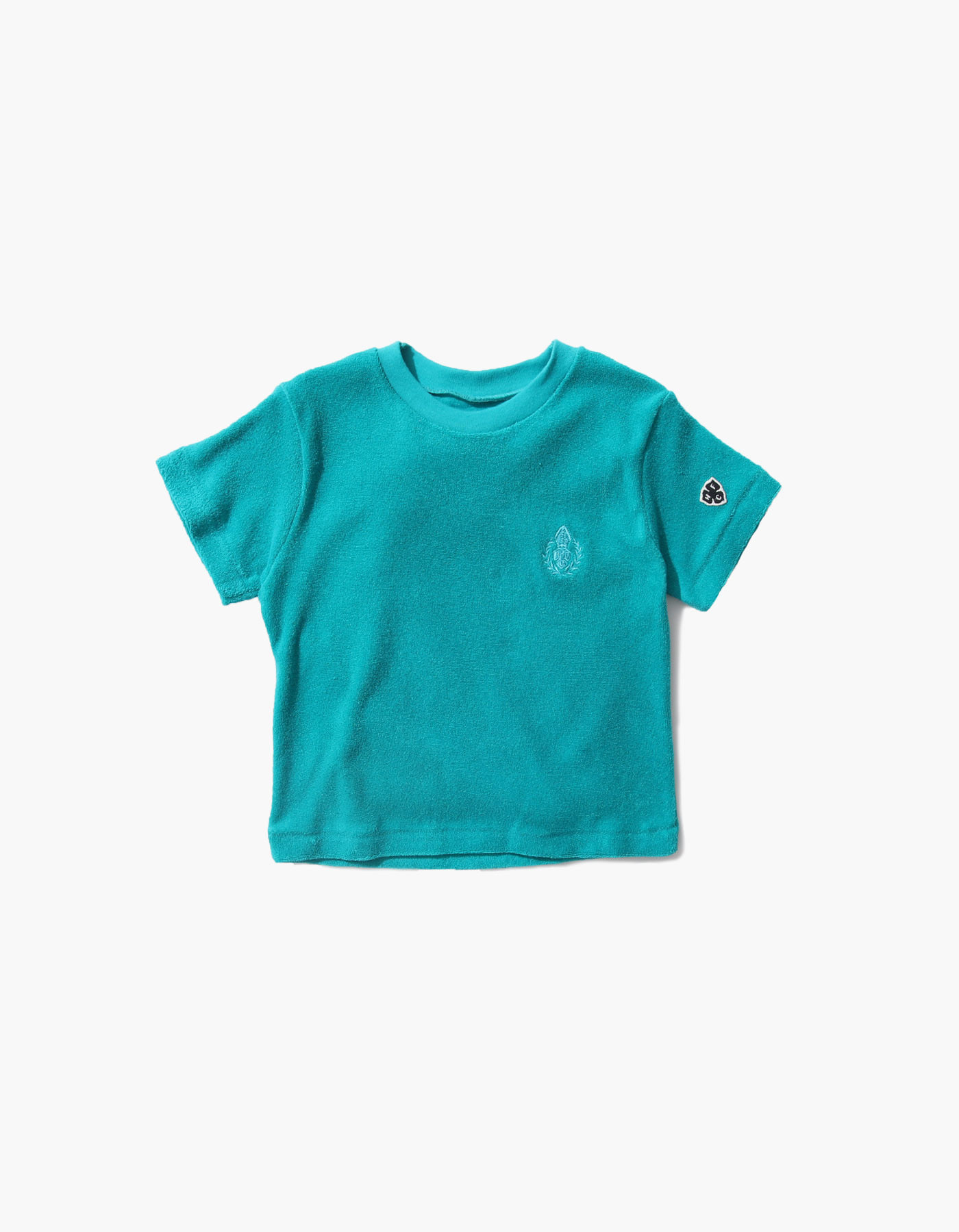 HFC CREST KIDS TOWEL T-SHIRTS / BLUE GREEN