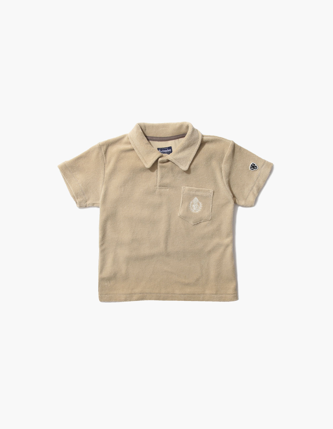 HFC CREST KIDS TOWEL POLO SHIRTS / BEIGE
