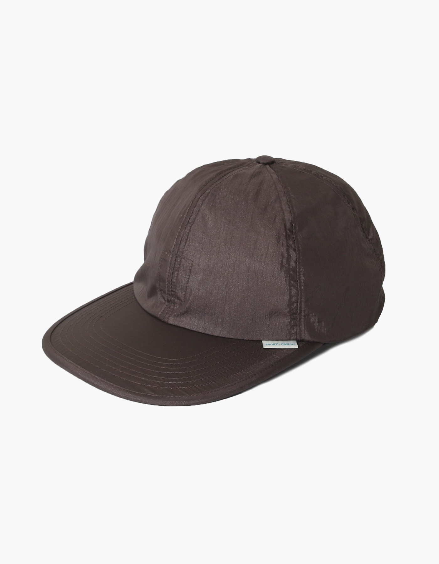 NYLON DIAMOND WASHER 6 PANEL CAP / DARK BROWN