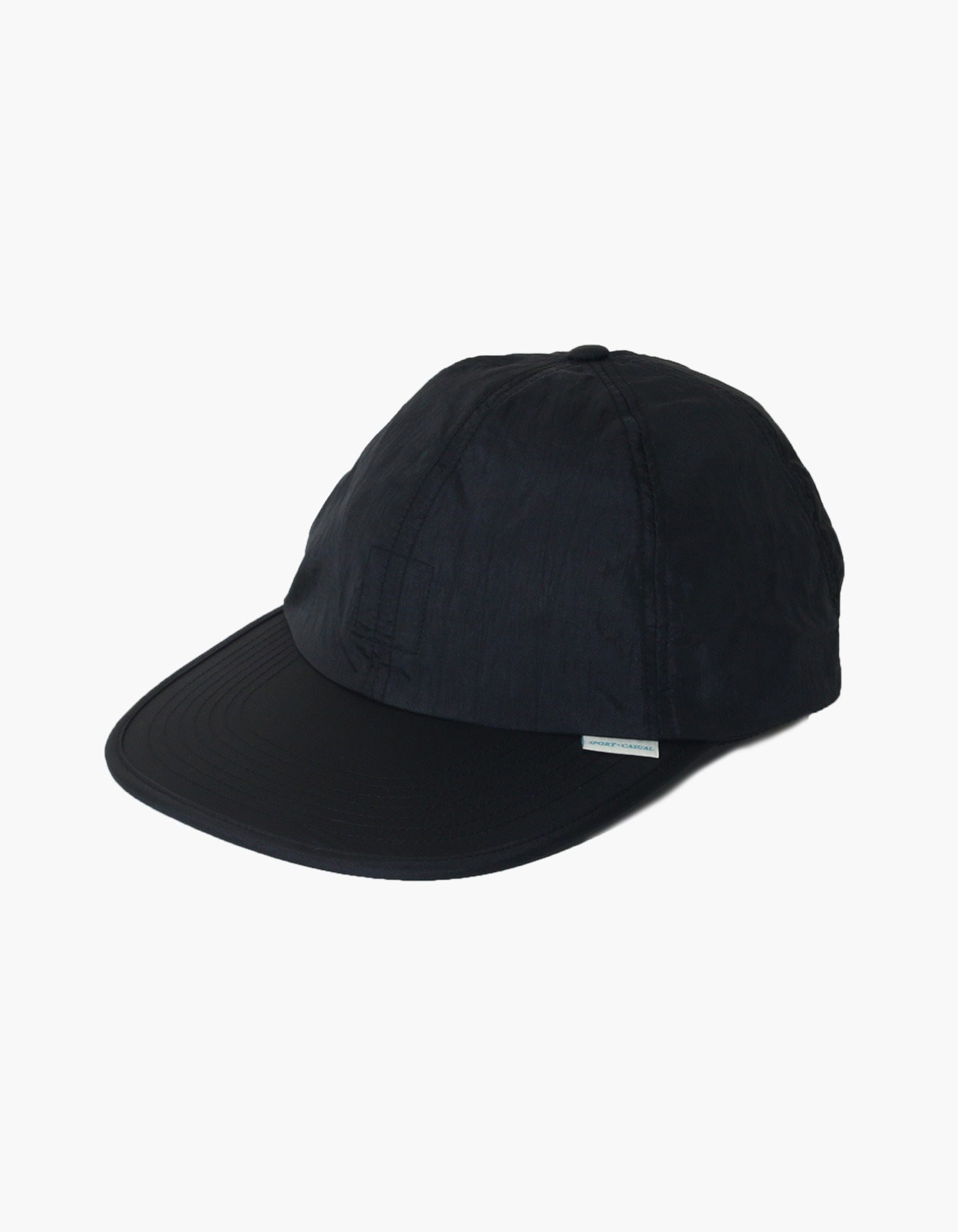 NYLON DIAMOND WASHER 6 PANEL CAP / BLACK