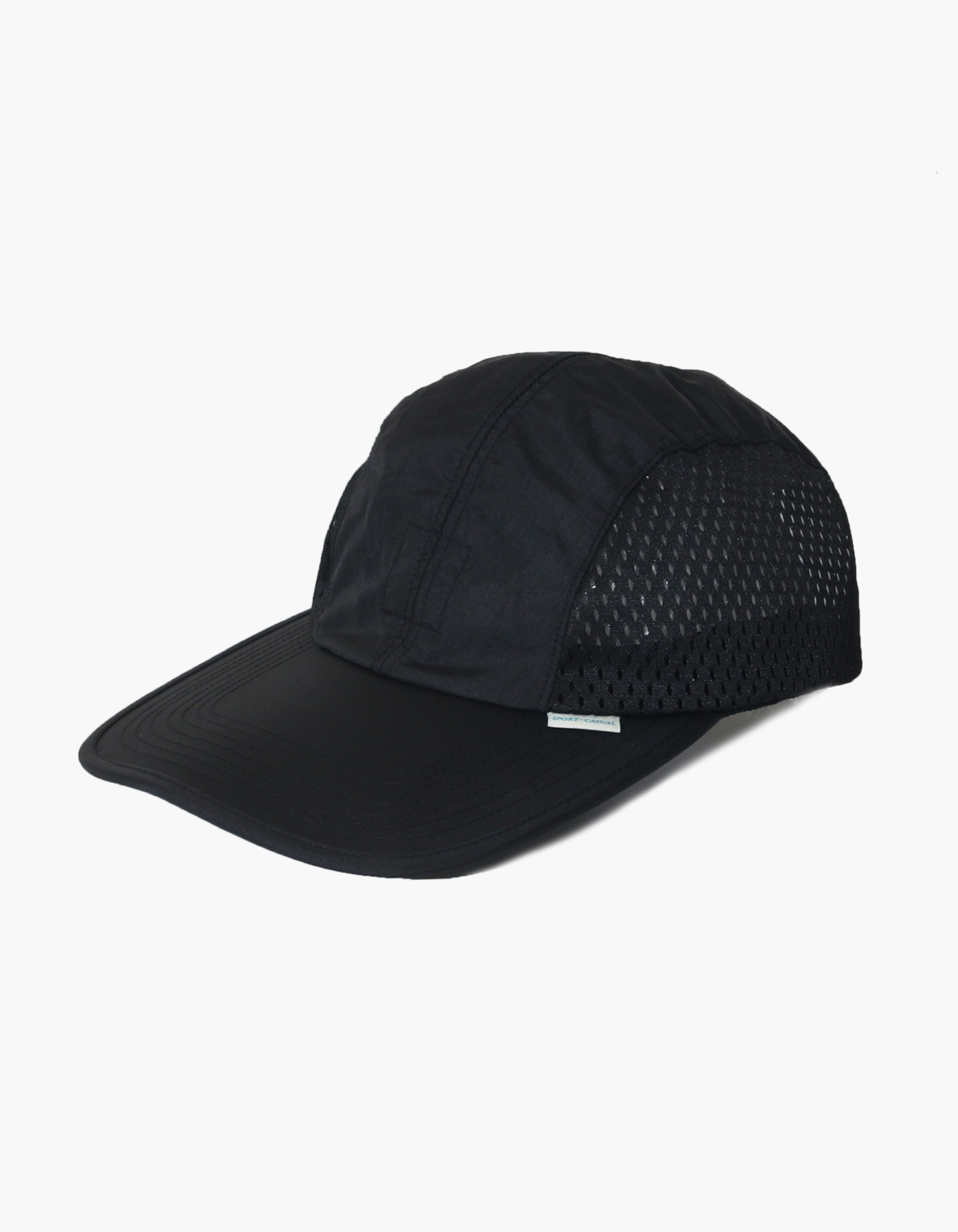 NYLON DIAMOND WASHER MESH CAP / BLACK