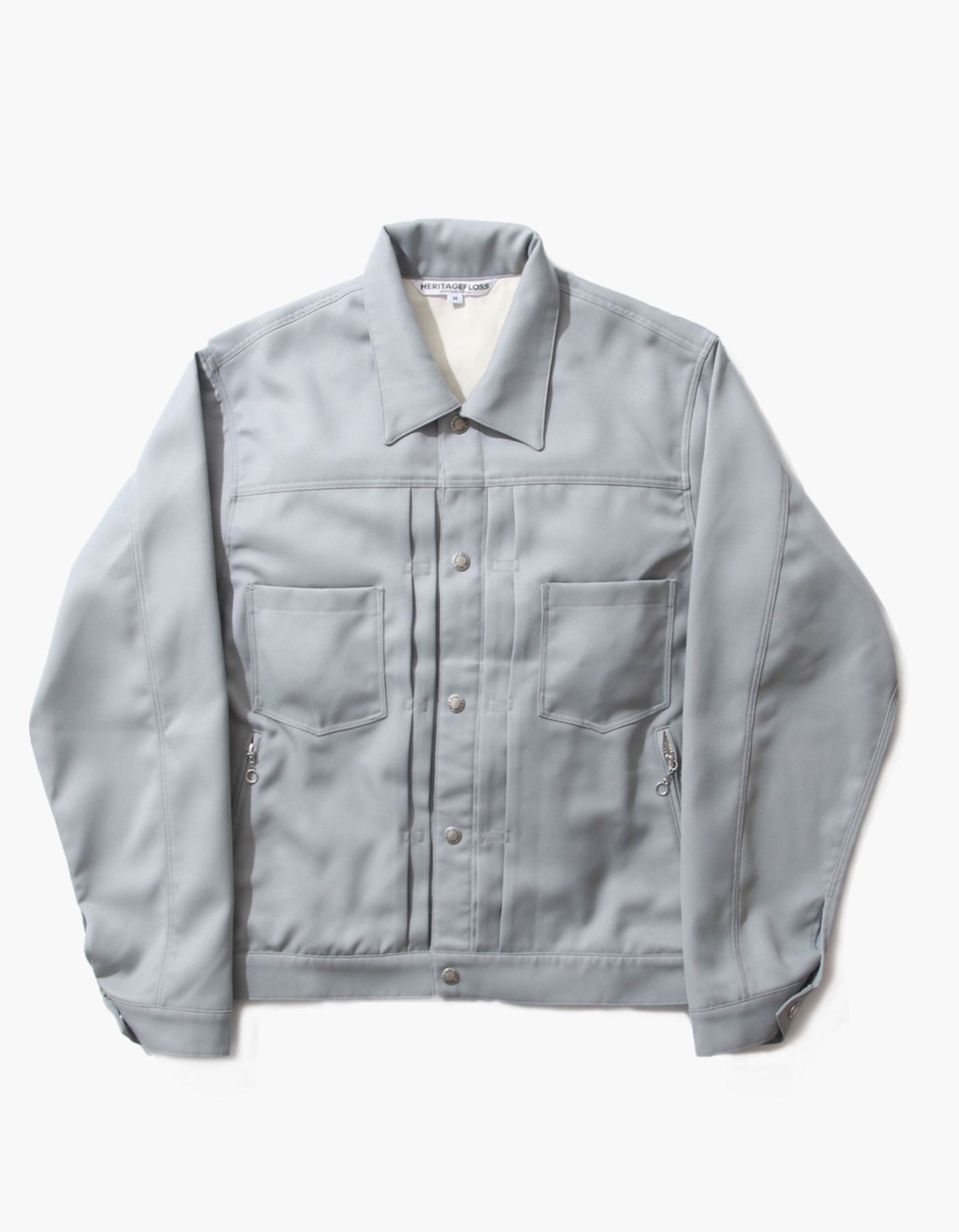 TWILL TRUCKER JACKET / JADE