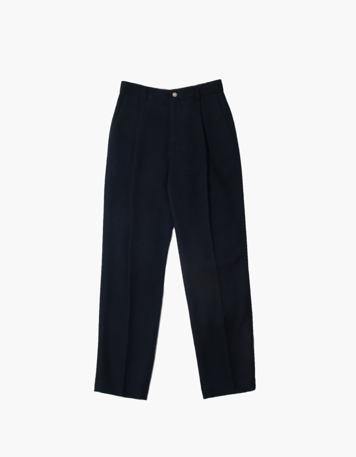 FAUX WOOL PANTS / NAVY