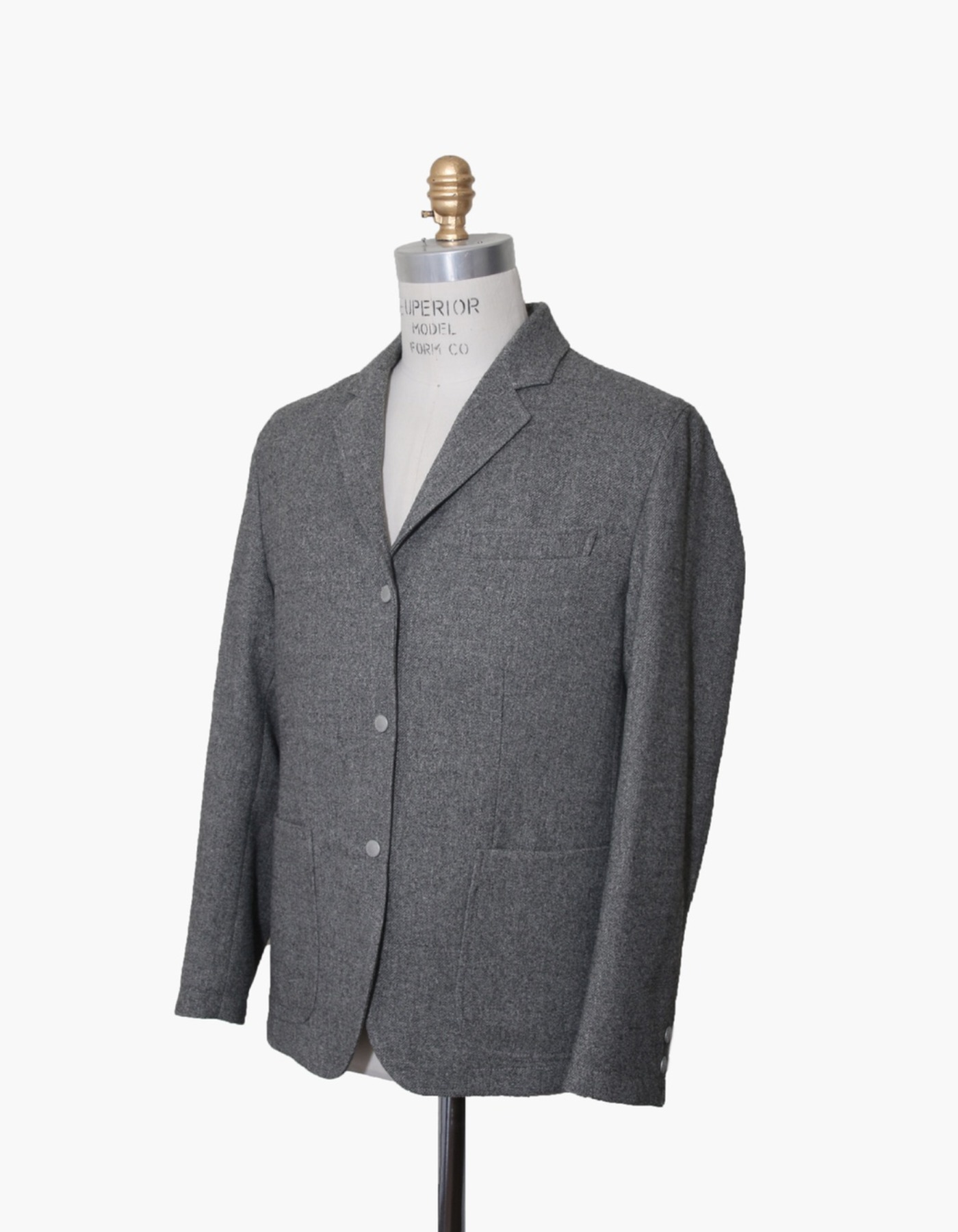 FAUX WOOL SPORTS BLAZER / GREY