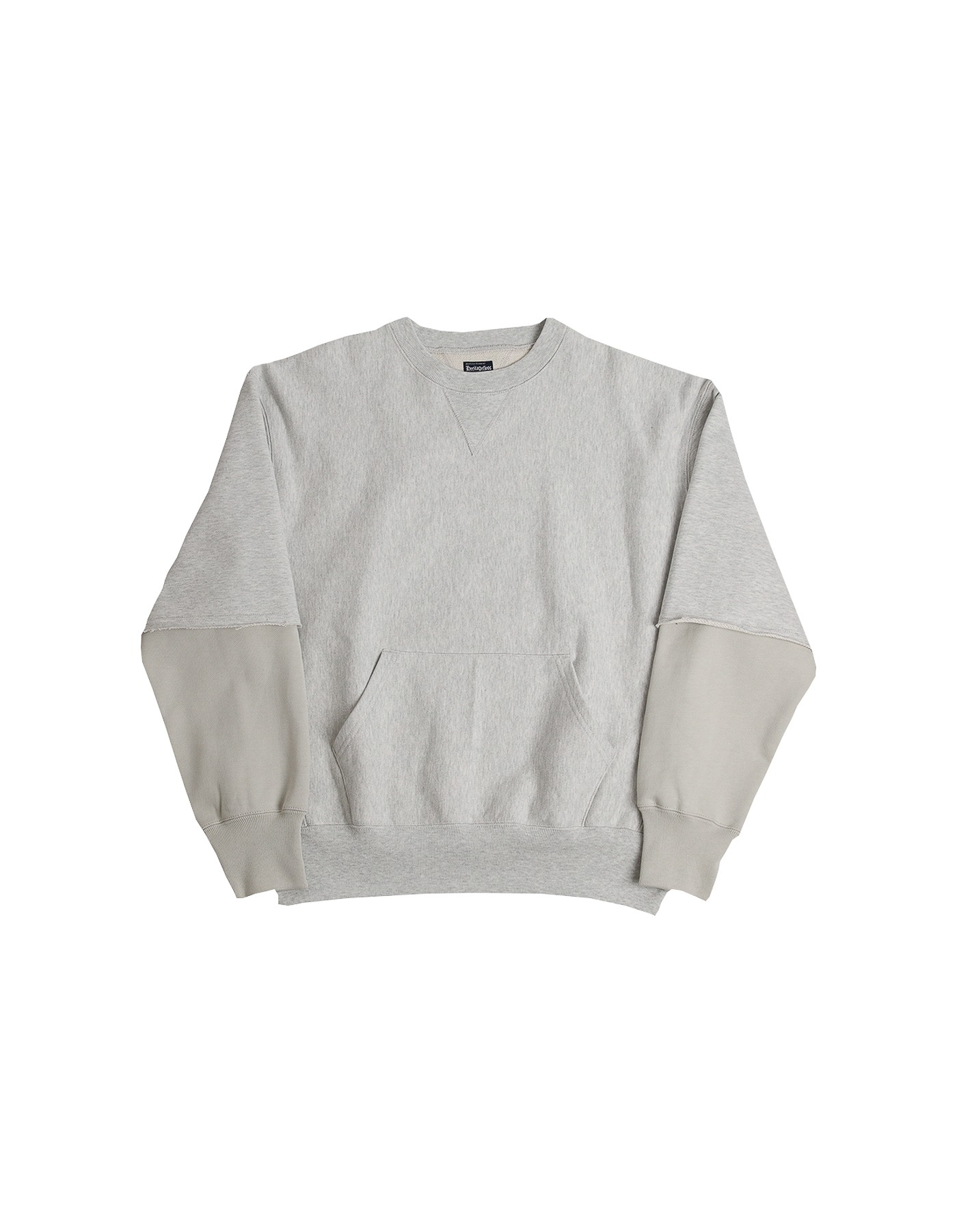 221 REVERSE ROCKY CREWNECK / M.GREY(1%)-LIGHT JADE