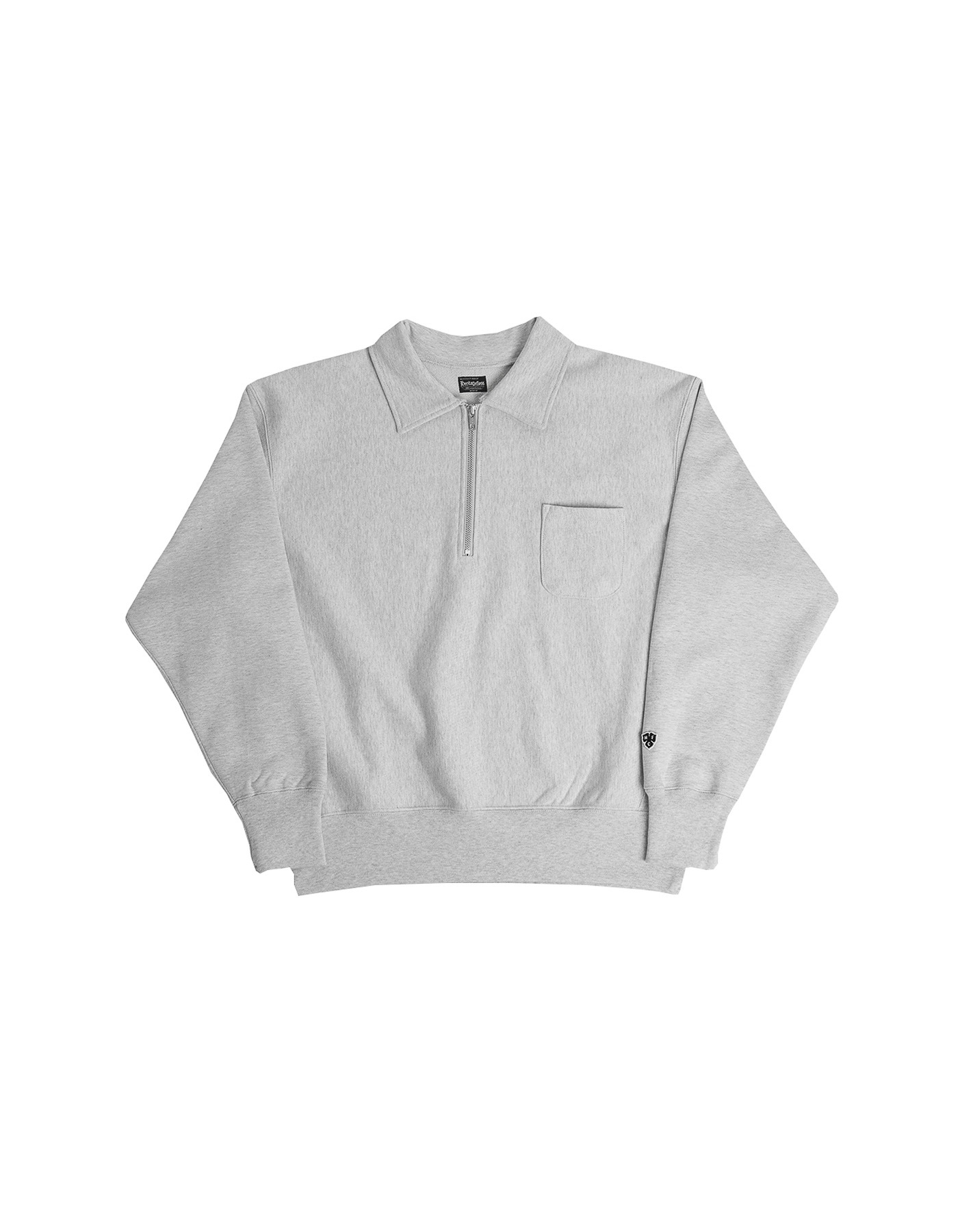 221 REVERSE COLLAR HALF-ZIP / M.GREY(1%)