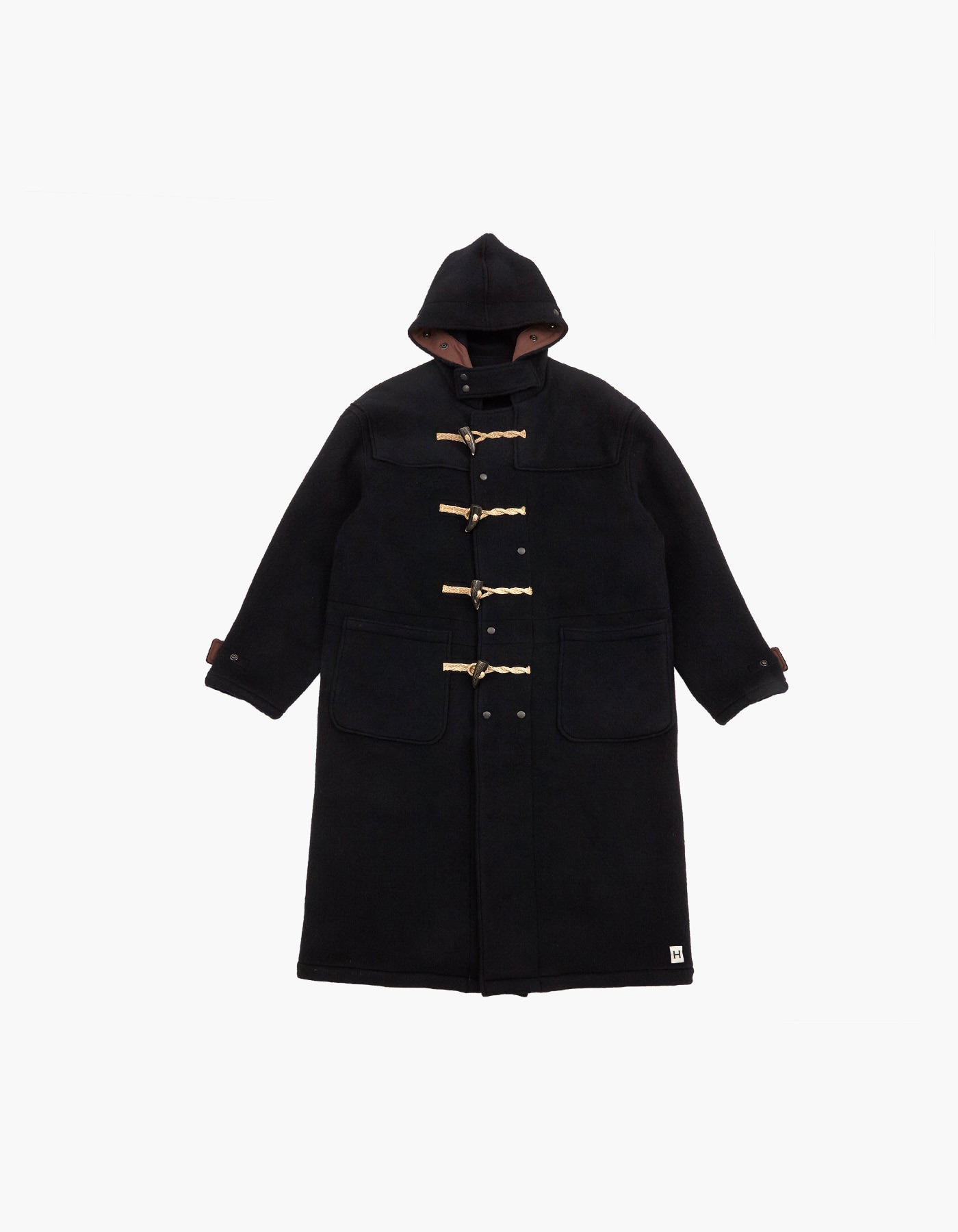 WOOL DUFFLE COAT / BLACK