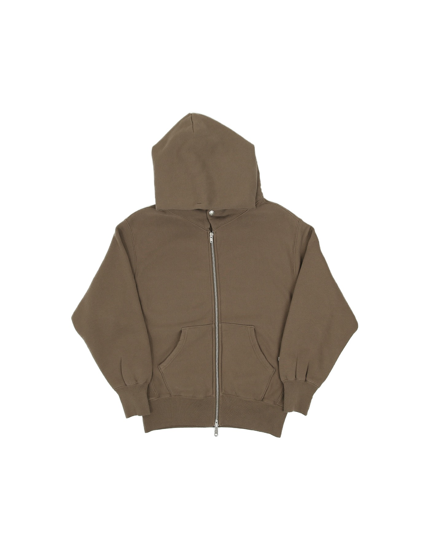 334 REVERSE FLEECE ZIP-UP HOODIE / DESERT KHAKI