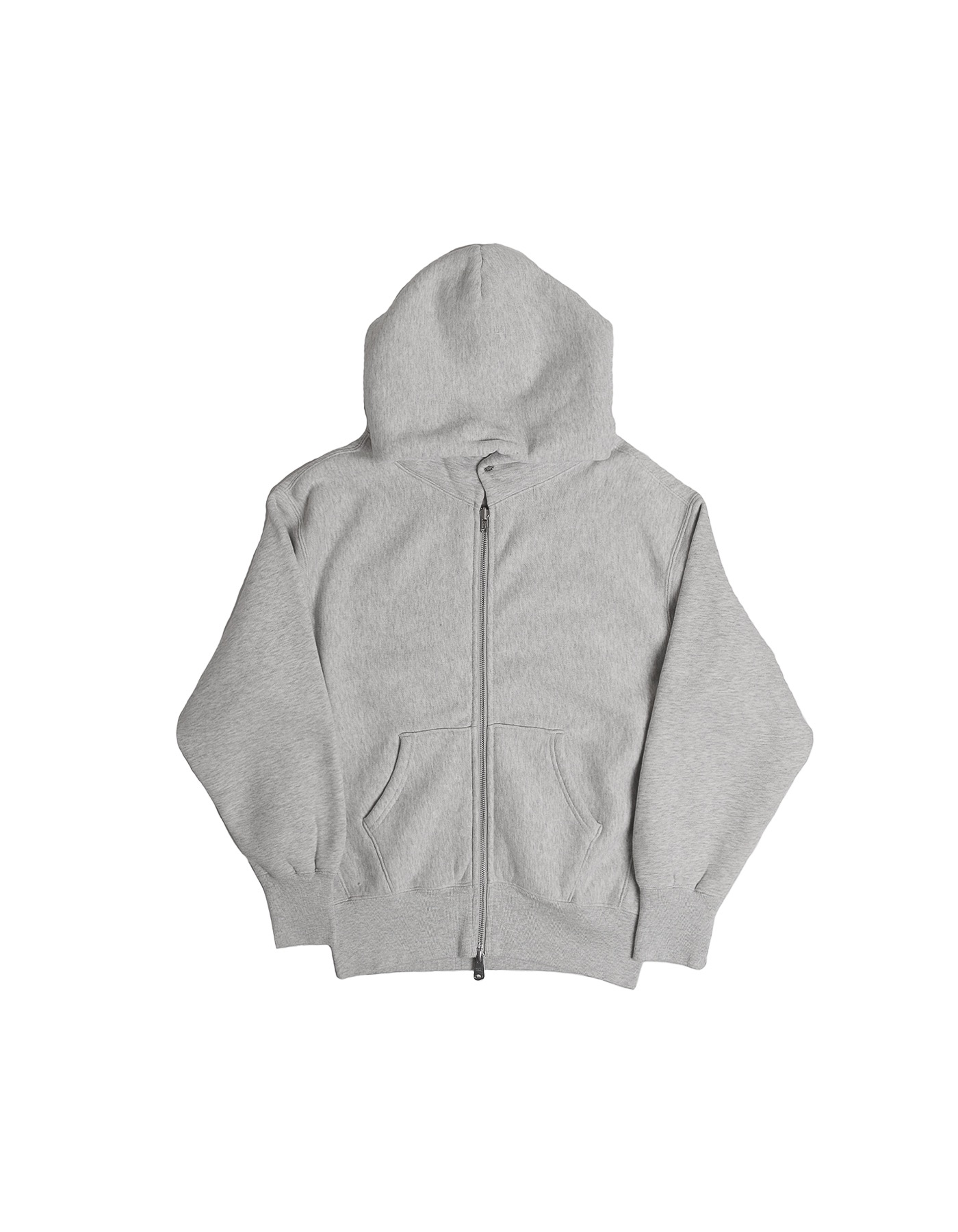 334 REVERSE FLEECE ZIP-UP HOODIE / M.GREY(1%)
