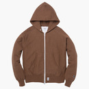 331 THERMAL ZIP-UP HOODIE M.BROWN