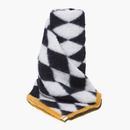 H BLANKET PANCHO WHITE/BLACK