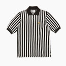 ENGLISH STRIPED MESH PIQUE SHIRT / WHITE-BLACK