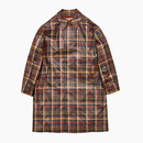 ENGLISH CHECKED BALMACAAN COAT / ORANGE