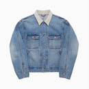 SELVEDGE TRUCKER JACKET / LIGHT INDIGO-IVORY