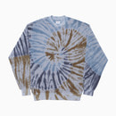 TOWEL TIE-DYE GYM CREWNECK / GREY