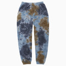 TOWEL TIE-DYE GYM JOGGER PANTS / GREY