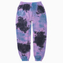 TOWEL TIE-DYE GYM JOGGER PANTS / MAGENTA