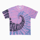 TOWEL GYM TIE-DYE T-SHIRTS / MAGENTA