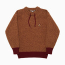 FISHERMAN CREWNECK SWEATER / BURGUNDY
