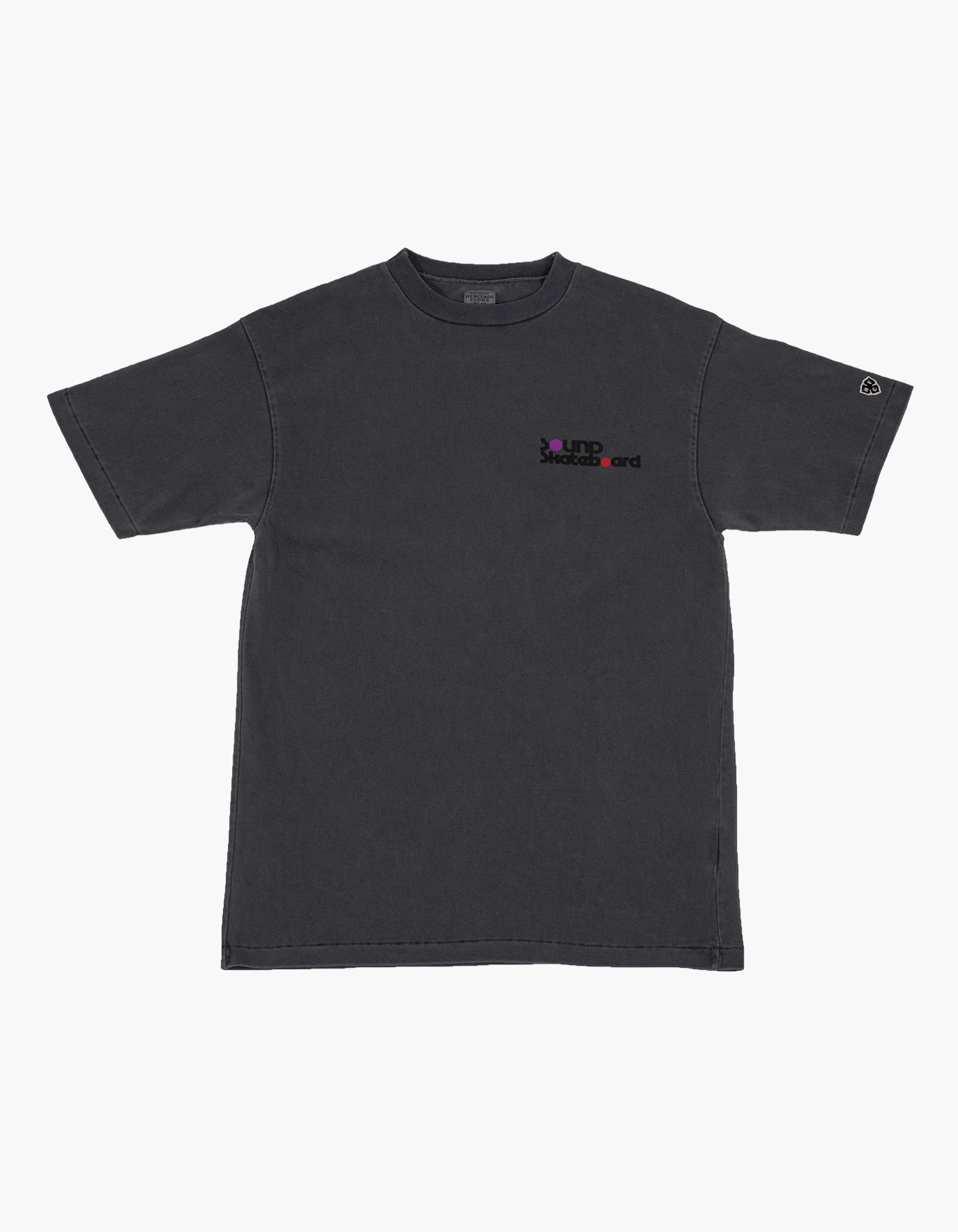 SOUNDSKATE 10S COMPACT YARN T-SHIRTS / CHARCOAL