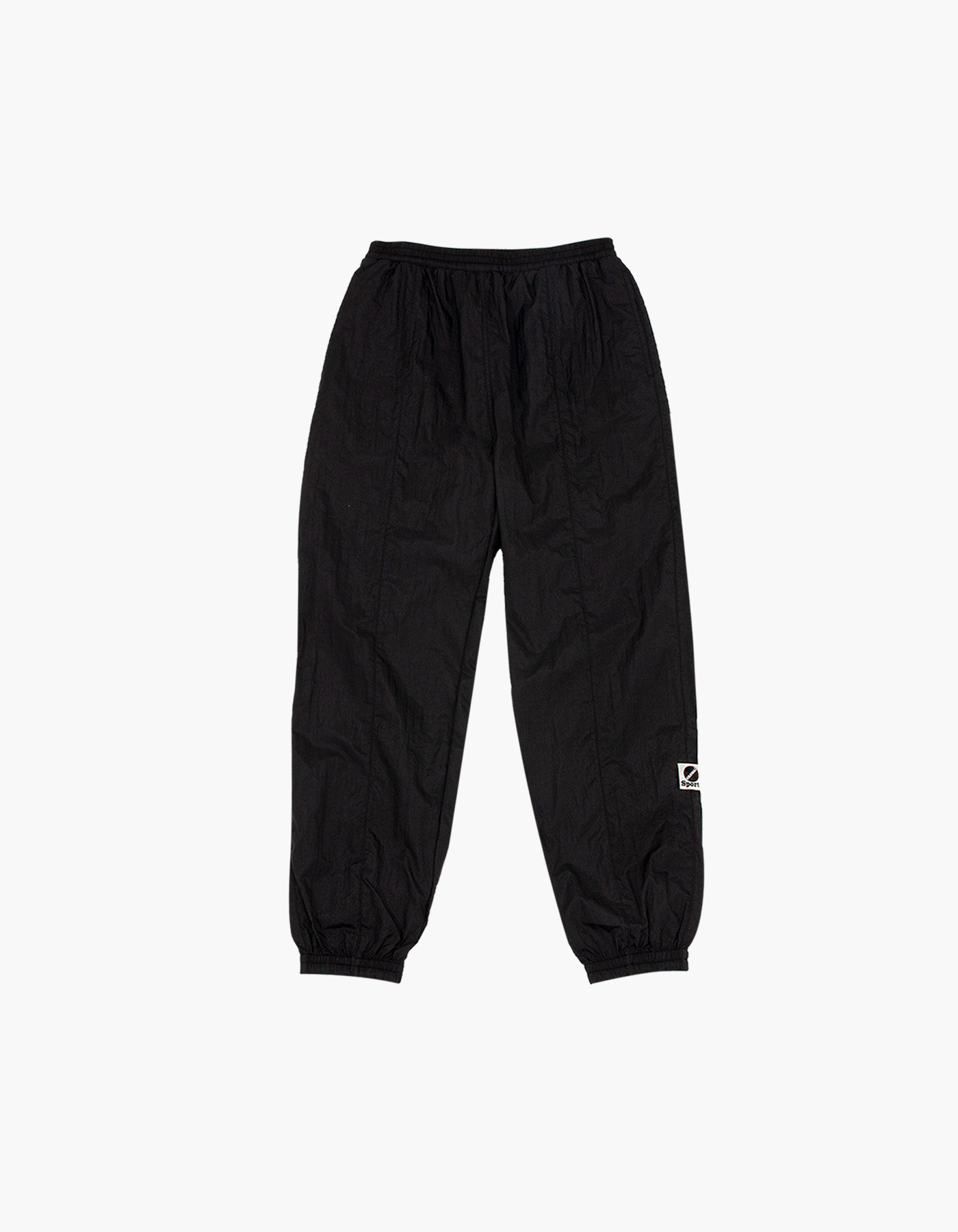 NYLON DIAMOND WASHER PANTS / BLACK