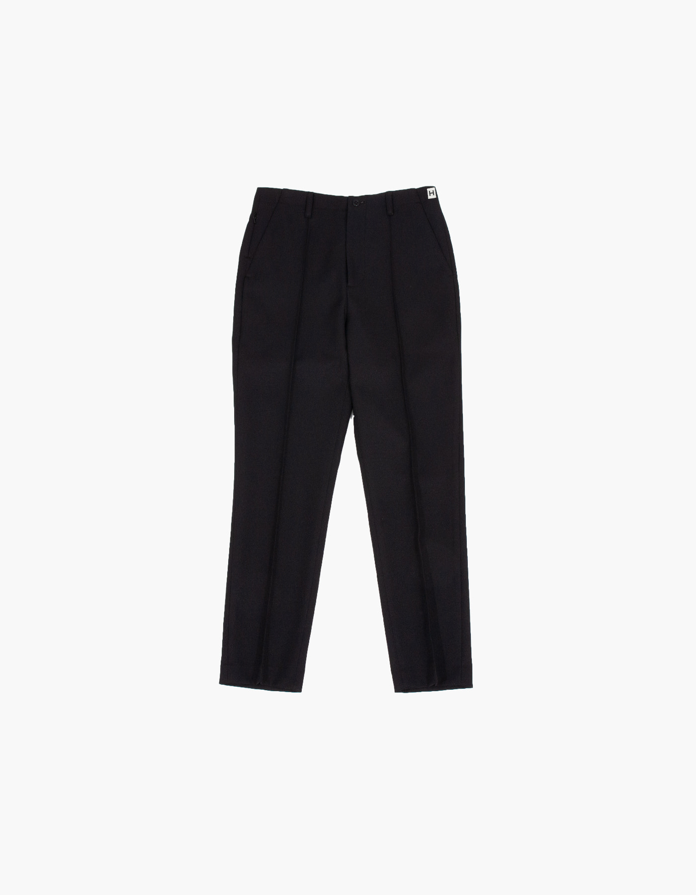 851 PIN TUCK CHINO PANTS (W) / BLACK