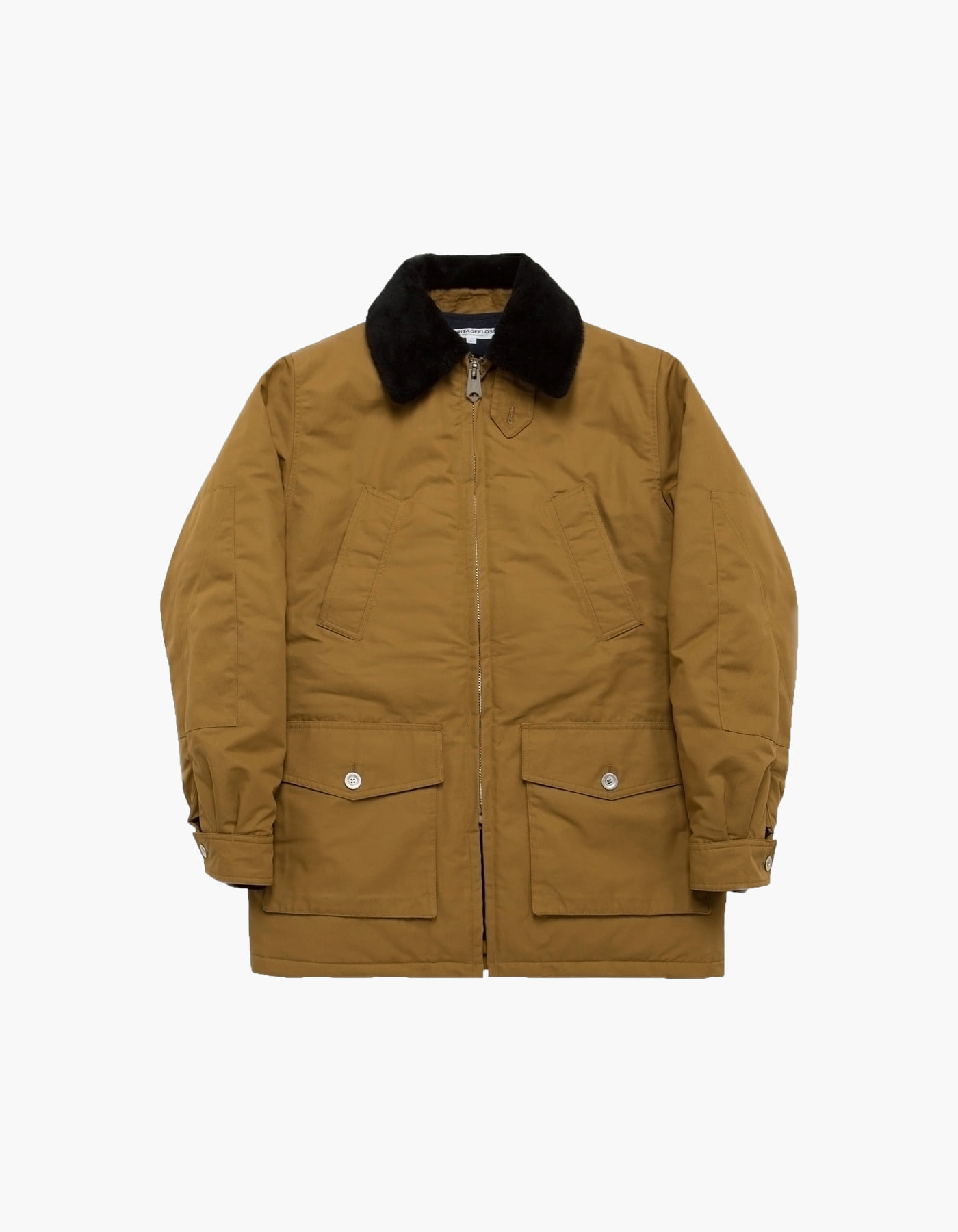 FUR LINING FIELD PARKA / KHAKI BROWN