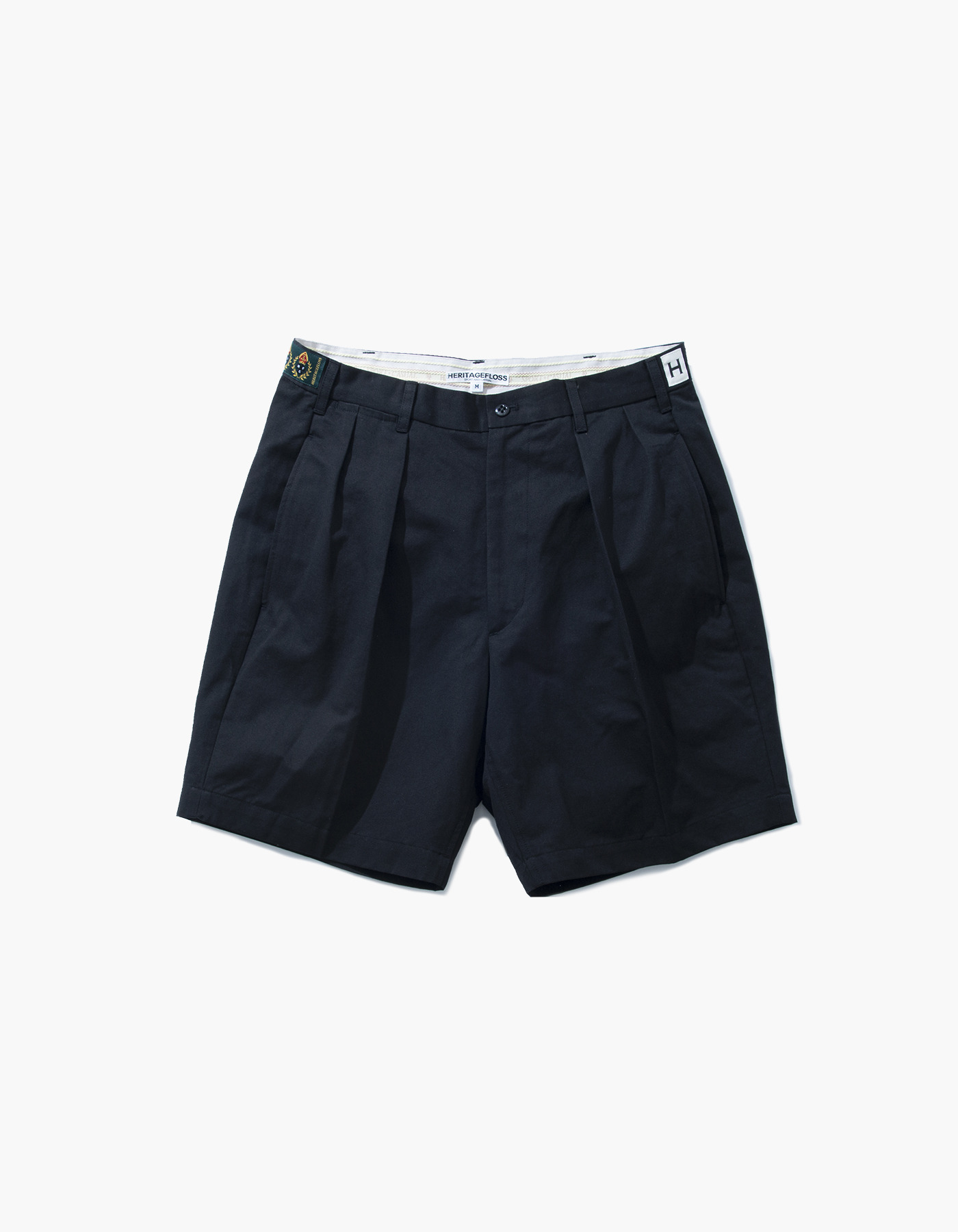 VINTAGE WASHER LINEN CHINO SHORTS / BLACK