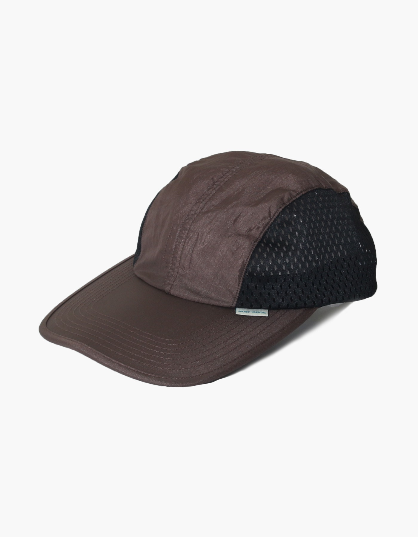 NYLON DIAMOND WASHER MESH CAP / DARK BROWN