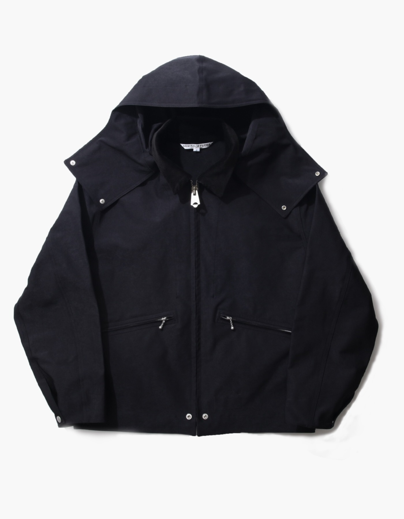 FAUX SUEDE WINDBREAKER / BLACK