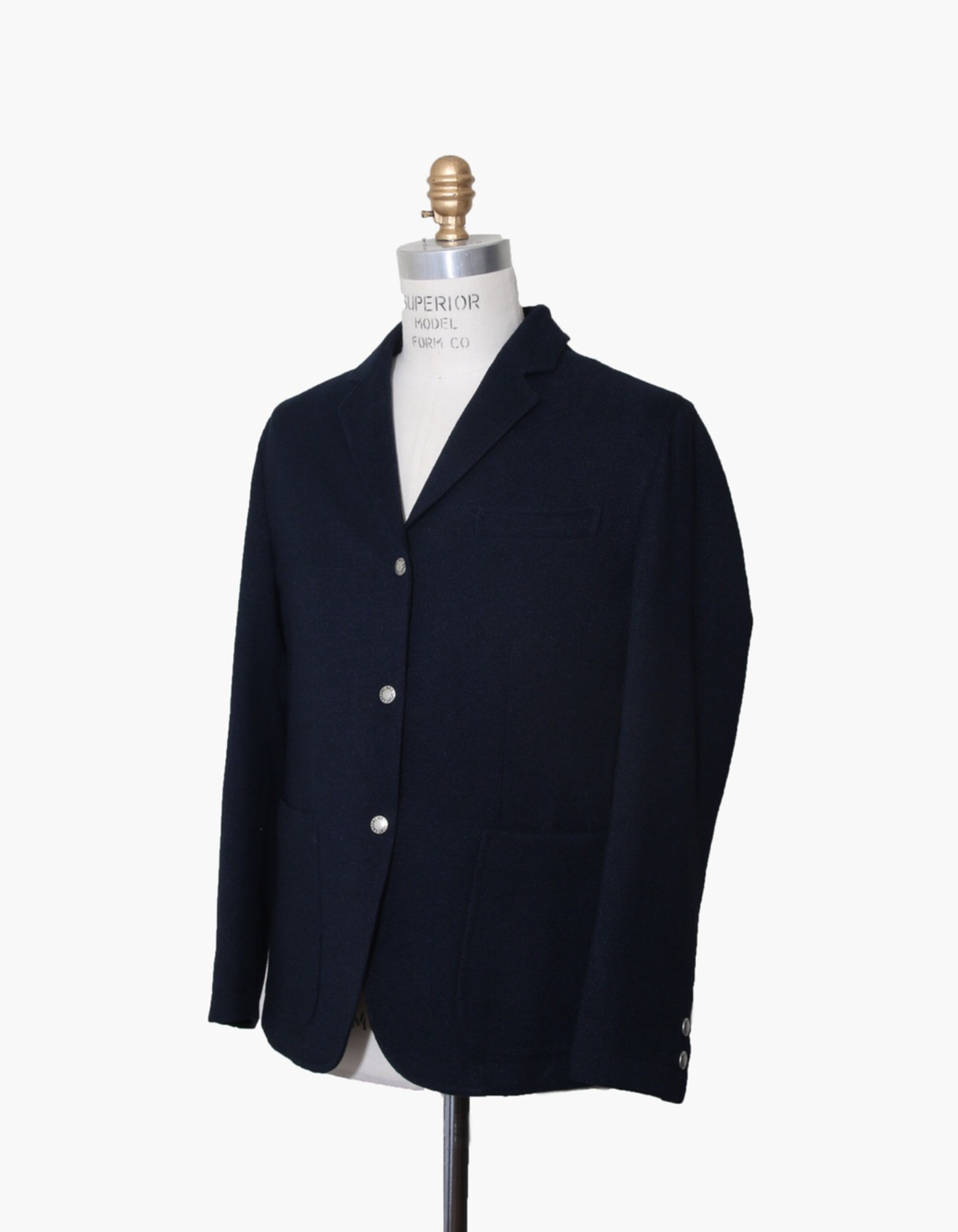 FAUX WOOL SPORTS BLAZER / NAVY