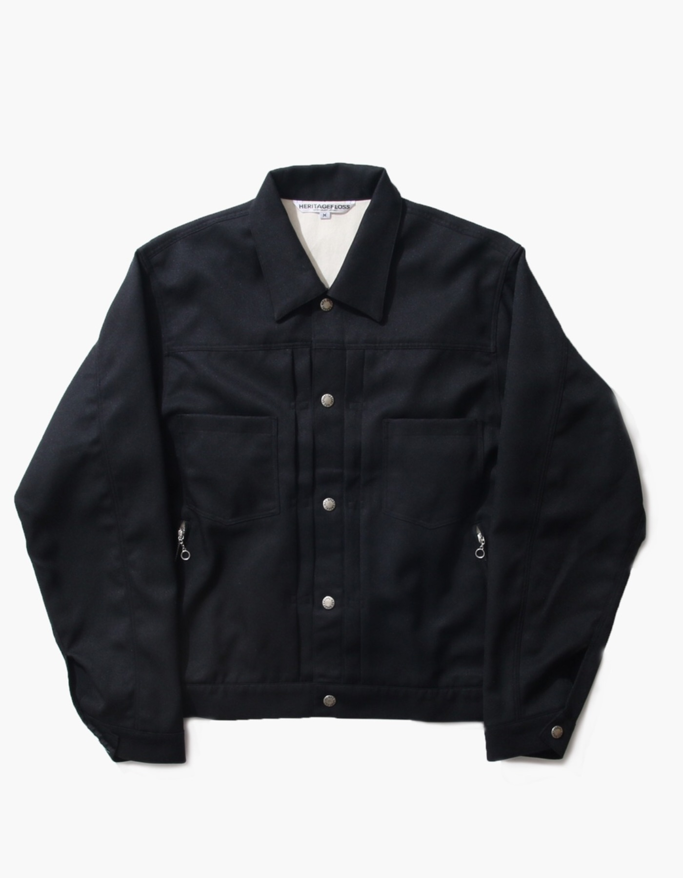 TWILL TRUCKER JACKET / BLACK