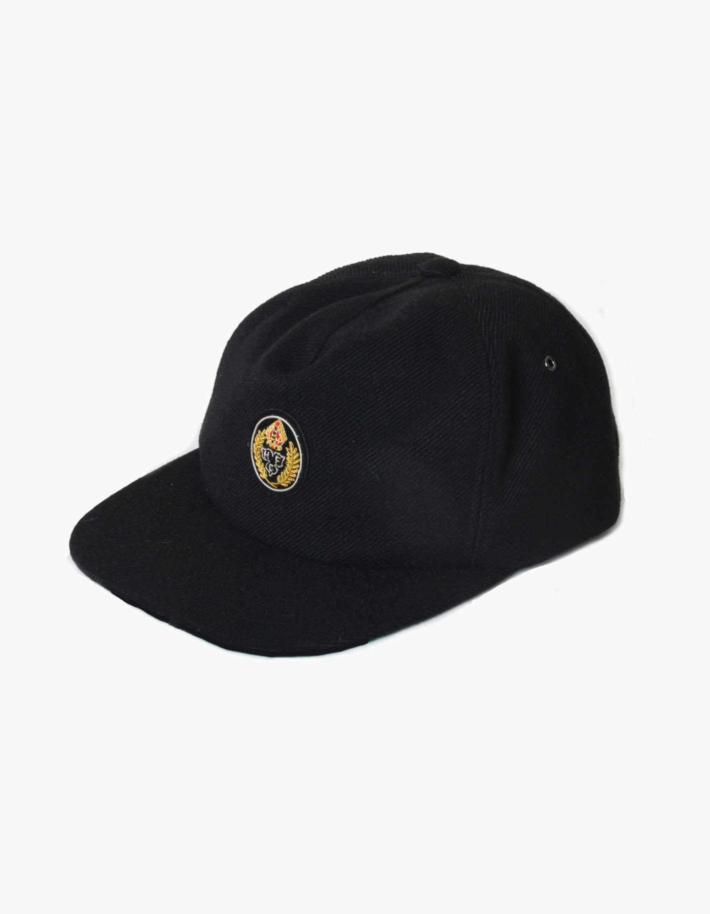 HFC CREST FAUX WOOL CAP / BLACK