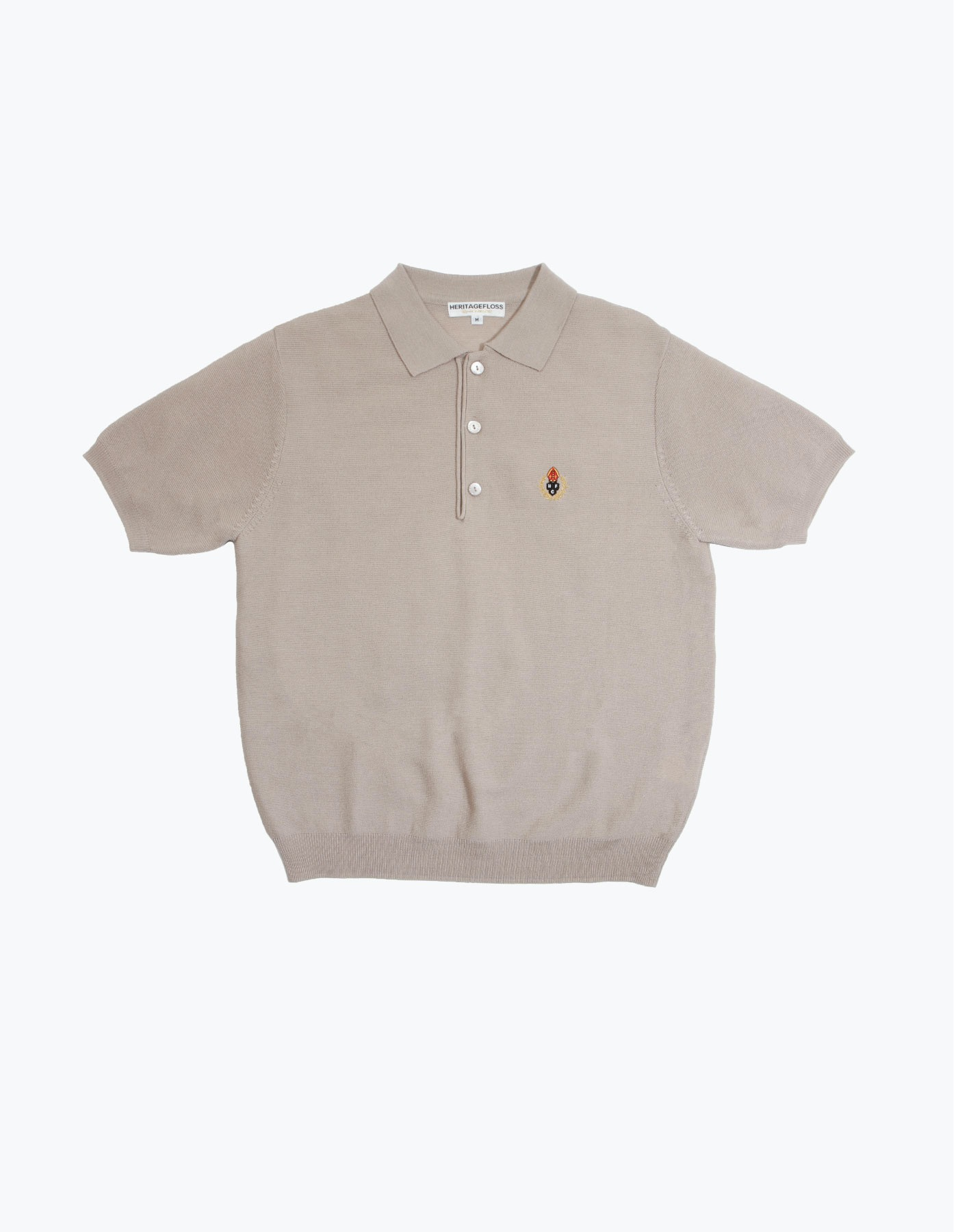 HFC CREST POLO SHIRT / LIGHT GREY